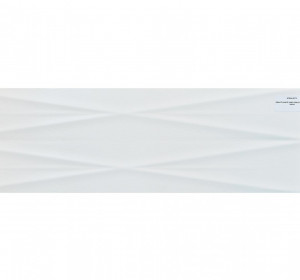 Gravity White lines structure satin 24x74cm