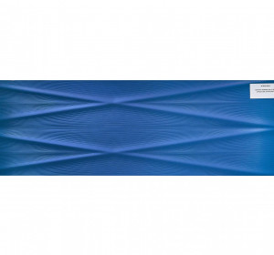 Gravity Marine blue lines structure satin 24x74cm