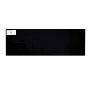Black glossy structure cubes 20x60cm