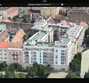 Mátyás tér 10-11.: Az elkészült épület - műholdképeken