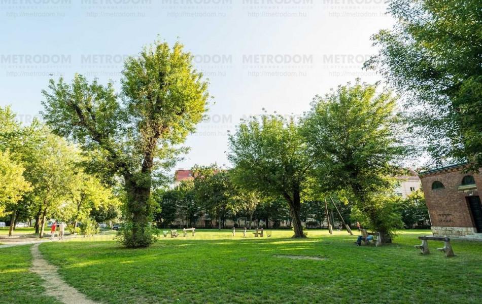Kellemes sétát tehet a Babér utcai Plébánia melletti parkban.