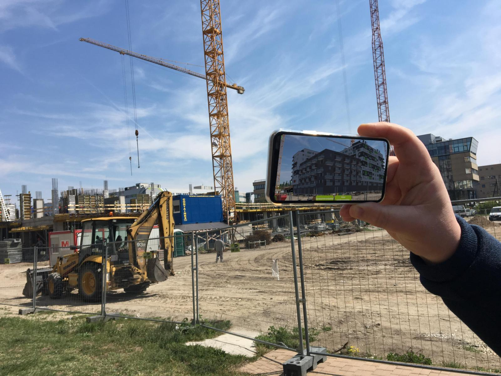 Augmented reality with Metrodom's app